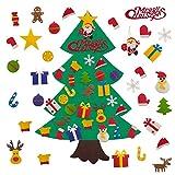 Halcyerdu Fieltro Árbol de Navidad, con 30pcs los Ornamentos Desmontables, ara Niño...