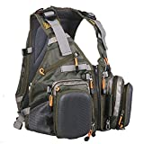 MAXIMUMCATCH Fly Fishing Vest Pack (Fishing Vest/Fishing Backpack/Fishing Sling Pack) (Backpack(backpack style))