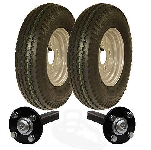 Parnells Alta Velocidad Remolque Kit 4.80/4.00-8 Road Legal Ruedas + Hub & Mangueta 400-8