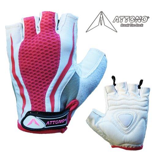 ATTONO Fitnesshandschuhe Damen Nordic Walking Sommer Fahrrad Handschuhe Größen: 6-8