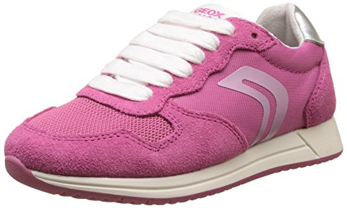 Geox Mädchen J JENSEA Girl E Sneaker, Pink (Fuchsia), 32 EU