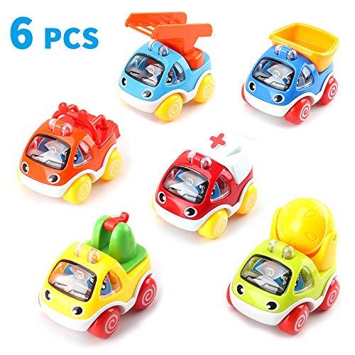 Amy&Benton Auto Spielzeug Zurückziehen ab 1 Jahr Baby, Spielzeugauto Kleinkinder ab 2 Jahren, Mini Pull Back Auto Zurückziehen für Junge ab 3 Jahre