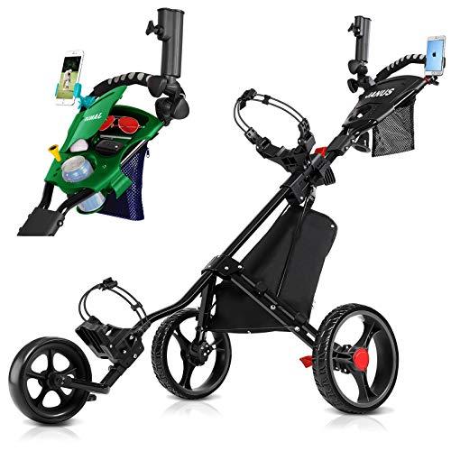 JANUS Golf Push Cart, Golf cart for Golf Clubs, Golf Pull cart for Golf...