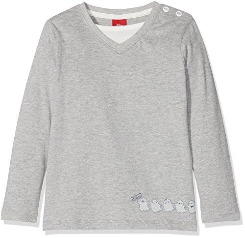 s.Oliver s.Oliver Baby-Jungen 65.808.31.8058 Langarmshirt, Grau (Light Grey Melange 9400), 80