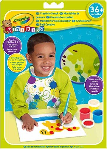 Crayola - Mini Kids - Tablier avec manches - Coloriage pour enfant et tout petit - 256402.012
