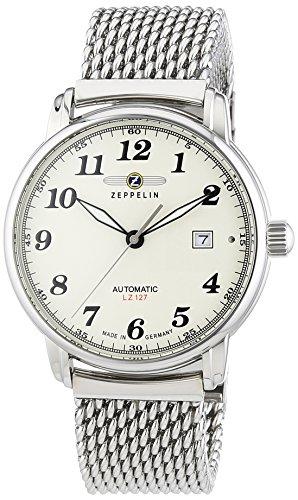 Zeppelin Herren-Armbanduhr XL LZ127 GRAF Analog Automatik Edelstahl 7656M5