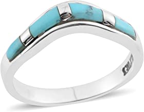 925 Sterling Silver Kingsman Turquoise Southwest Jewelry Statement Band Ring for Women Jewelry Size 10
