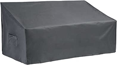 PATIO WATCHER Small Outdoor Loveseat Bench Cover, Durable and Waterproof Patio Furniture Sofa Cover, Grey