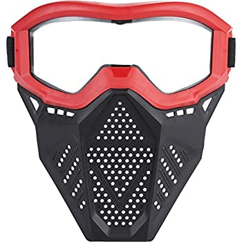 Surper Face Mask Tactical Mask Compatible with Nerf Rival Apollo Zeus Khaos Atlas Artemis Blasters Rival Mask  Red   Red
