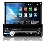 Tristan Auron BT1D7021A Autoradio mit Android 8.1, 7'' Touchscreen Bildschirm, GPS Navigation, Bluetooth Freisprecheinrichtung, Quad Core Prozessor, Mirrorlink, USB, SD, OBD 2, DAB+ I 1 DIN