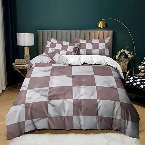 Bettwäsche 3D Geometrisches Linienmuster Bettbezug Set 155x220cm Kinder Jungen Mädchen Mikrofaser Tier Muster 3 Teilig Bettwäsche Set Mit Reißverschluss Und 2 Kissenbezug 80x80cm