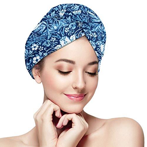 Osmykqe Microfaser Dry Hair Cap Für Bath Spa Weiches Handtuch Für Nasses Haar Jugendstil Vogel-...