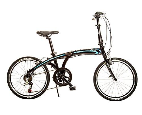 Bike USA Ubike Blue Streak 7-Speed Folding Bicycle with 20' Wheel, 10'/One Size