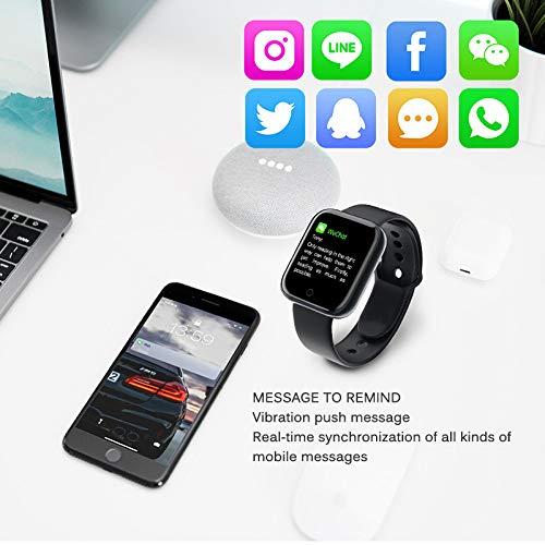 Smart Watch Bluetooth Reloj Inteligente Mujer Hombre Smartwatch Pantalla táctil con Ranura para Tarjeta SIM Cámara Podómetro Moviles Pulsera de Actividad para Android iOS (Negro) miniatura