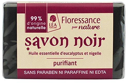 Savon Noir Purifiant à l'Huile Essentielle d'Eucalyptus et Huile de Nigelle 100 g Lot de 2,FLORESSANCE,