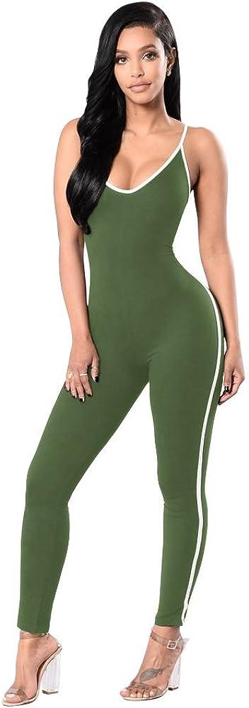 Dreamskull Atlanta Mall 100% quality warranty! Women's Sexy Bodycon Jumps Spaghetti Strapped Catsuit