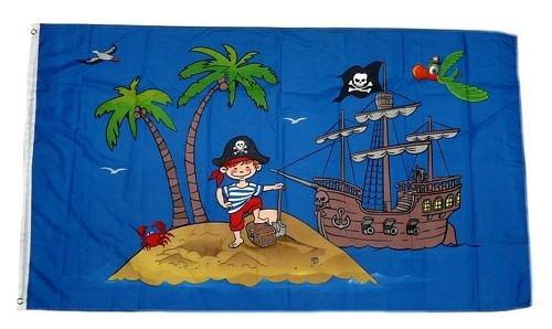 Flagge / Fahne Piratenschiff Schatzinsel 90 x 150 cm
