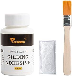 VGSEBA金メッキ接着剤、水ベースの金箔接着剤100ml、クラフト、アート、木材用エポキシ樹脂用
