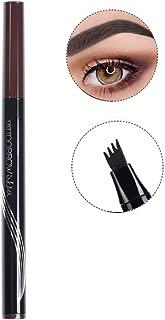 Turelifes Tattoo Eyebrow Pen con 4 puntas de larga duración Waterproof Brow Gel para maquillaje de ojos