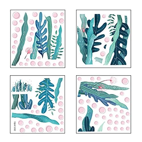 QOTSTEOS Pegatinas de pared para dormitorio de bebé, diseño de arrecifes de coral de algas marinas, pegatinas de pared con temática de océano debajo del mar para habitación de niños (tamaño: tipo A)