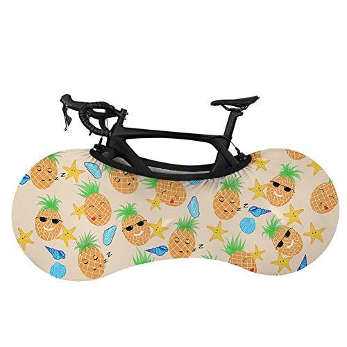 Cubierta para rueda de bicicleta de montaña, cubierta de almacenamiento para bicicleta, diseño de perezoso, personalidad de fruta de perezoso, cubierta para rueda de bicicleta, antisuciedad, para bicicleta de montaña, elástica, protección para coche, ropa de coche-Zd1121F1