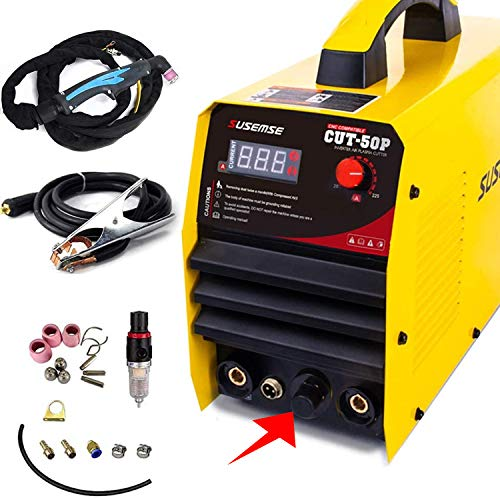 プラズマカッター エアープラズマ切断機 インバーター デジタル切断機 100v/200v兼用機 高性能 直流 軽量 (CUT50P)