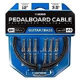 Kit de cables de pedalera sin soldadura BOSS BCK-12 – Cable de 3,5m + 12 conectores de 1/4' en ángulo recto y recto para formar 6 cables a medida