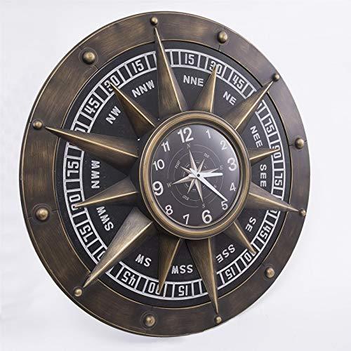 VBARV Große kreative dekorative Uhren, Retro Metall Industrie Wanduhr, runde Digitale Ziffern leicht zu lesen, batteriebetrieben, Nicht tickend, für Zuhause, Schlafzimmer, Wohnzimmer, Küche