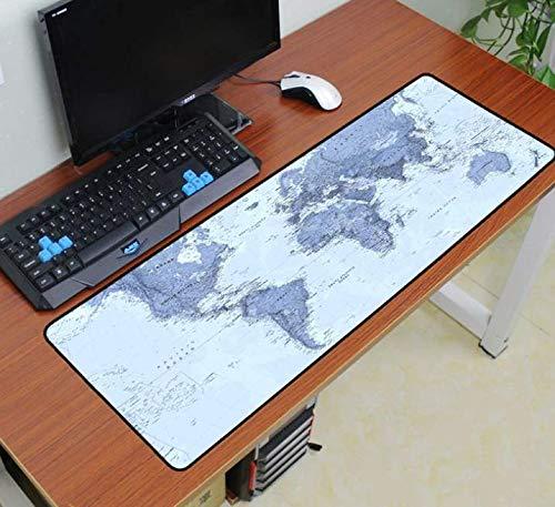 Muis Pad Naar Muis Notbook Computer Art Mousepad Gaming Padmouse Witte Wereld Map Gamer Aan Toetsenbord Muis Matten 900 * 400 * 3Mm