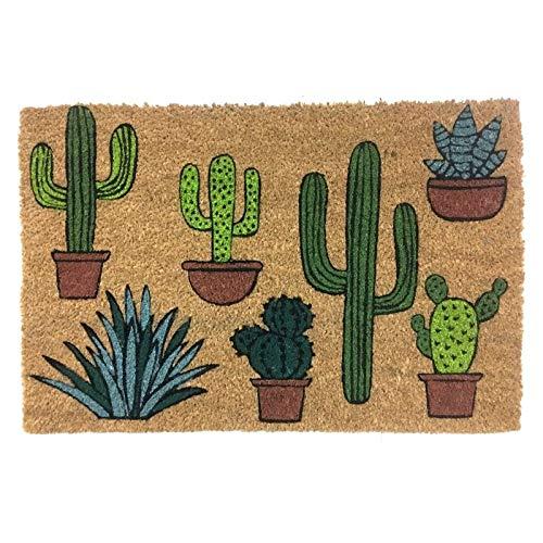 Eideo Home Felpudo Antideslizante Cactus 70x40 cm