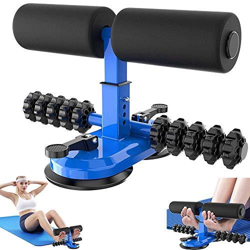 Verstellbares Sit-Up-Bar-Trainingsgerät mit Massagerolle, FASHLOVE-Sit-Up-Hilfsgerät für Bauchmuskeltrainer, Heim-Fitnessgeräte Fitness-Training Workout-Zubehör Bodybuilding für Männer und Frauen