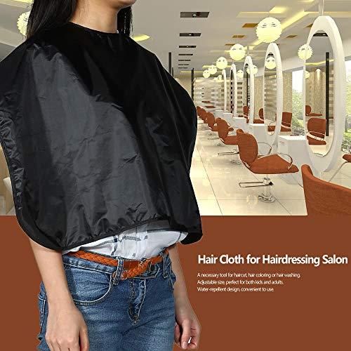 Yutongyi Étincelant Tablier Coiffure Professionnel en Tissu pour Barbershop Résistant À l'eau Coupe De Cheveux Cape Shampooing Blanc Maquillage temporaire (Color : Noir)