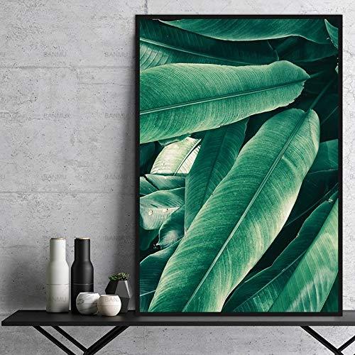 Geiqianjiumai Moderne hoofddecoratie muurschildering kunst plank groen blad afdrukken kantoor ornament top canvas Shantou frameloos schilderij