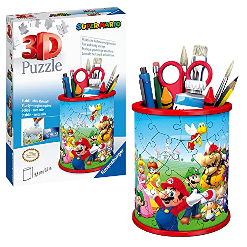 Ravensburger 3D Puzzle Utensilo Super Mario 11255 - 54 Teile - Stiftehalter für Super Mario Fans ab 6 Jahren