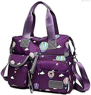 Nylon Multifunctional Mummy Diaper Bags Travel Bag Multi Pocket Lightweight Cross-body Cloud Bags Baby Backpack for Ladie...