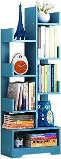 Estante de exhibición creativa estantería estantería simple sólido piso de madera modernos utilizan en sala de estar - Escalera de almacenamiento por separado de zafiro azul (color: azul zafiro, Tamañ