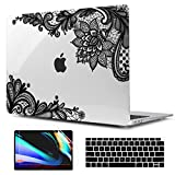 TwoL Case for MacBook Air 13 inch A2179 A1932, Ultra Slim Hard Shell Case and Keyboard Cover Screen Protector for New MacBook Air 13 inch 2018 2019 2020 with Retina Display Fashion Lace