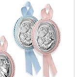 Atelier - Medallón carillón con Icono de la Virgen de la Trona para niño