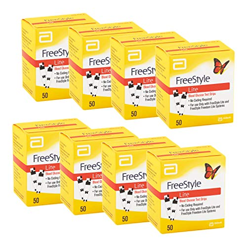 FreeStyle Lite Blood Glucose Test Strips - 50 ct, Pack of 8