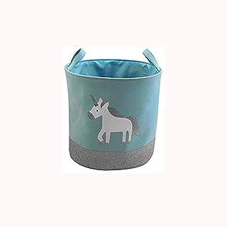 ECSWP Tissu Panier de Rangement, la Chambre des Enfants Toy Stockage Bucket Lavable Boîte de Rangement en Tissu Coton Vête...