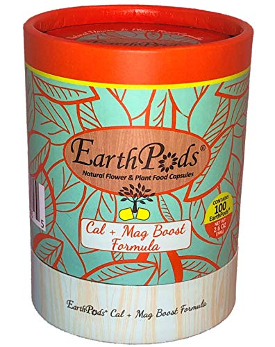 EarthPods Premium Cal Mag Plus Plant Food – Easy Organic Fertilizer Spikes – 100 Count (Stop Blossom End Rot, Great on Roses, Tomatoes, Peppers, Eggplants, Vegetable Garden, Ecofriendly)