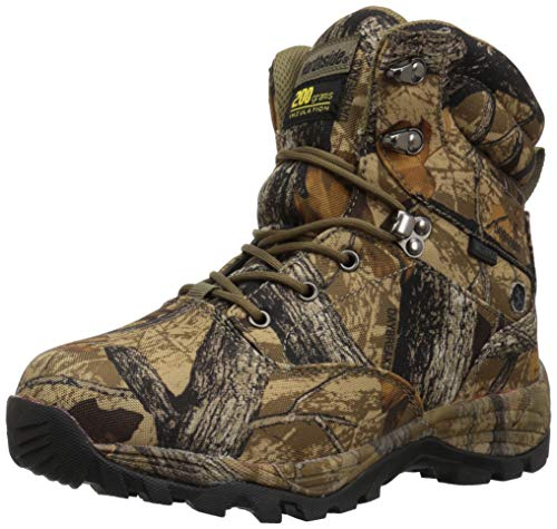 Northside Boys' CROSSITE 200 Hiking Boot, Tan Camo, 2 Medium US Little Kid