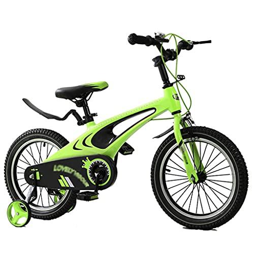 Bicicleta para niños 12 14 16 Bicicleta para Niños de 18 Pulgadas con Ruedas de Entrenamiento y Asiento Ajustable Bicicleta para Niños Pequeños para Edades de 2 Años en Adelante Niños Niñas