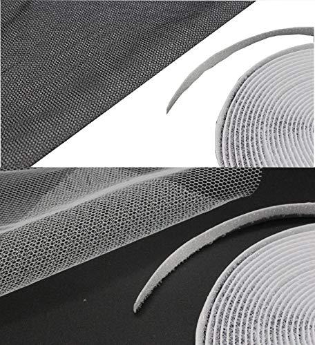 Fliegengitter Insektenschutz Fenster 130x150cm - durchsichtiges Fliegennetz mit Klettband für idealen Schutz gegen lästige Insekten Aller Art (Weiß)