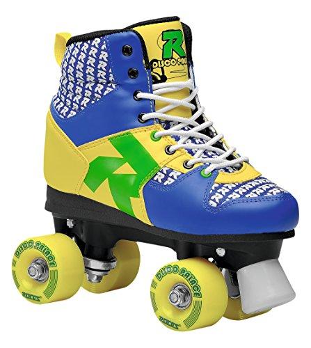 Roces Disco Palace Roller Skates, Damen, Disco Palace, Blau/Gelb, 40