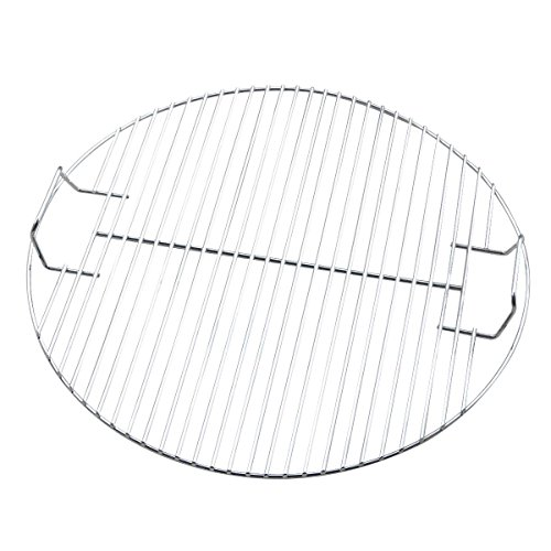 HUAJIAN Round Heavy Duty Fire grill Barbecue Grill Fire Pit Cooking Grate, 44.5cm Barbecue Grid Replacement for BBQ