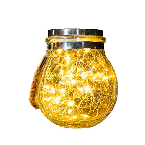 Solarlampen Für Außen,Lampions Solar Außen,30 Led Wasserdicht Solar Laterne Aussen,Solarlaterne, Gartendeko Solarleuchten Für Weihnachten,Balkon deko,Garten, Party,Baum,Warmweiß 1 Pack