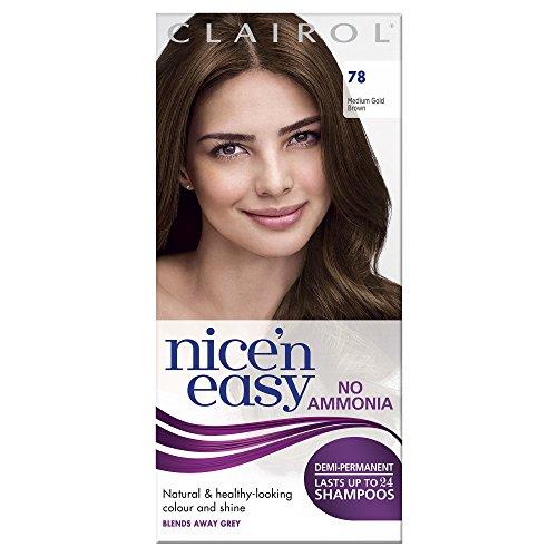 Clairol Nice'n'Easy Hair Colourant by Lasting Colour 78 Medium Golden Brown