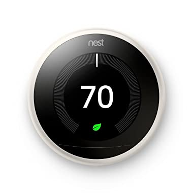 Google Nest Learning Thermostat - Programmable Smart Thermostat for Home - 3rd Generation Nest Thermostat - Works with Alexa - [White]