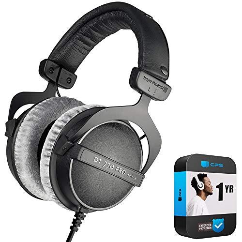 beyerdynamic 459046 DT 770 PRO 250 Ohms Studio Headphones Bundle with 1 Year Extended Protection Plan